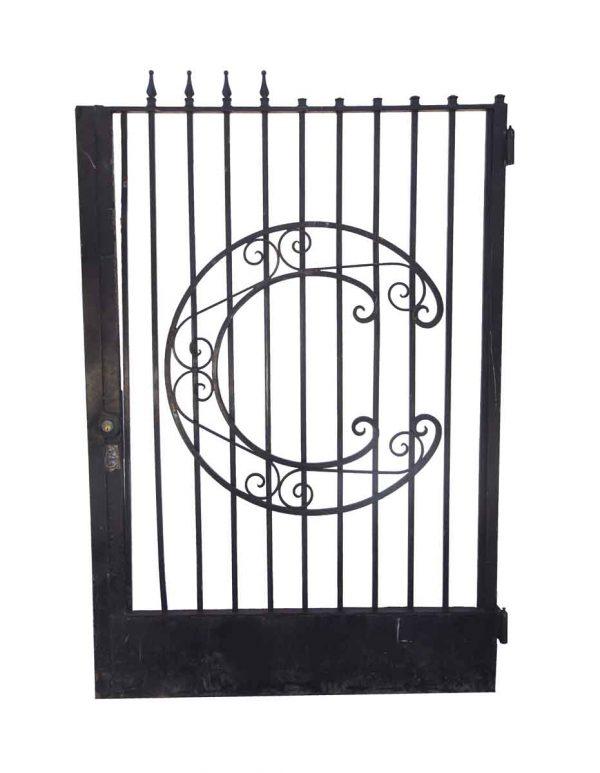 Gates - Antique 12 ft. x 6 ft Iron Dual Driveway Gates with 6 ft. x 4 ft. Gate