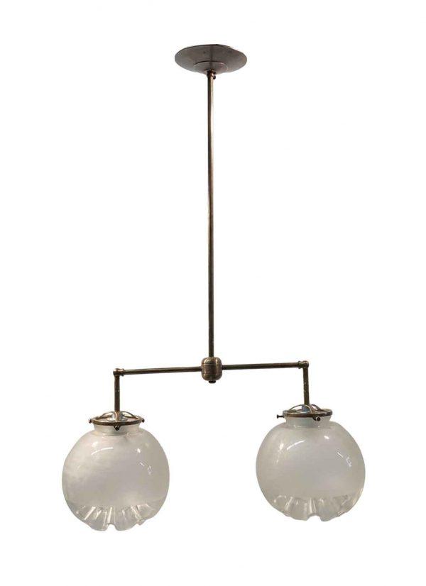 Globes - Mid Century Double Waffle Globe Pendant Light
