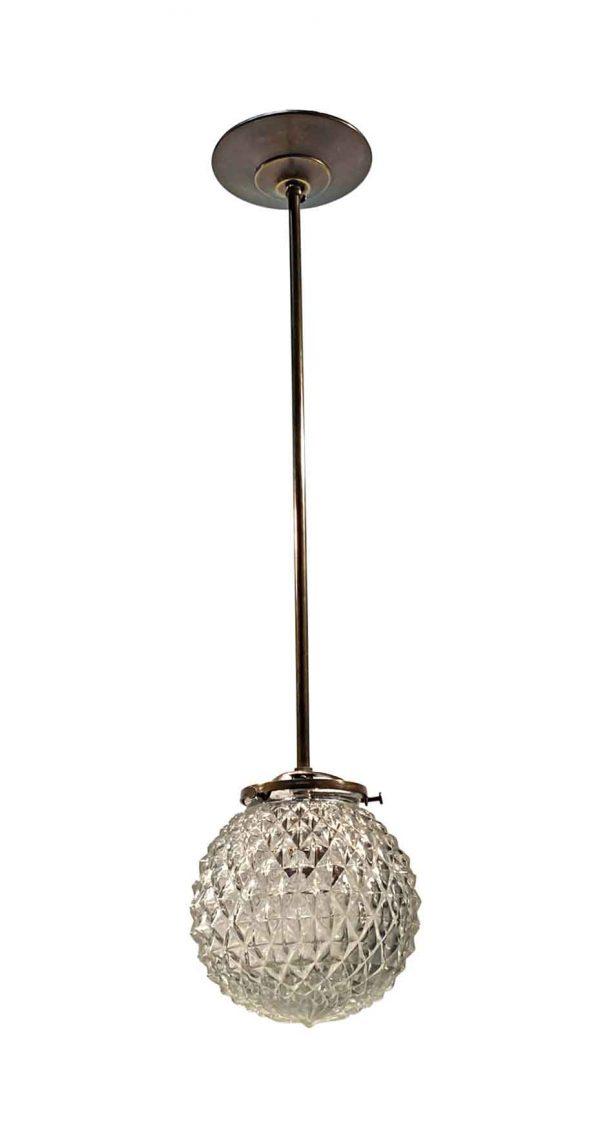 Globes - Mid Century Textured Glass 6 in. Globe Pendant Light