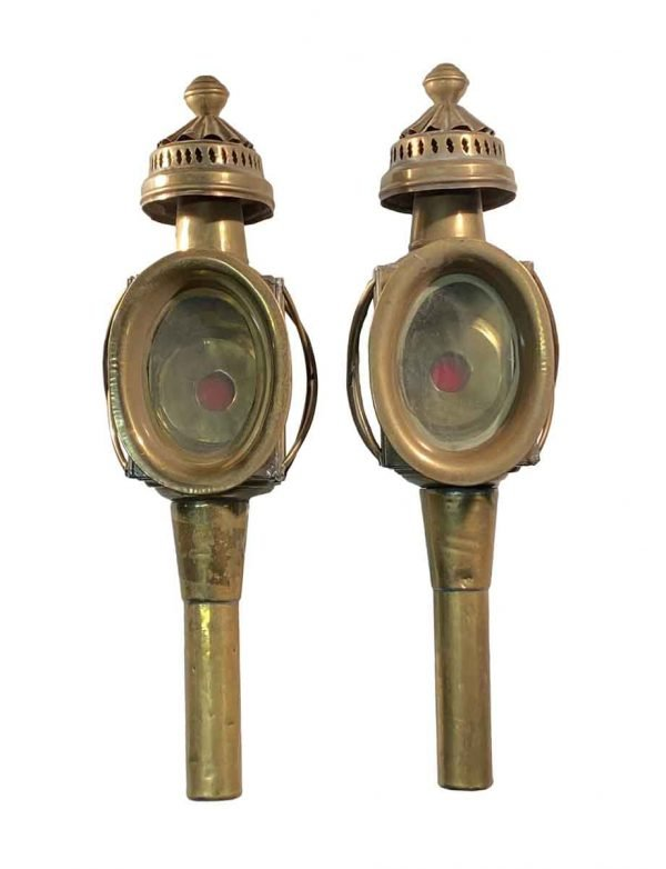Industrial & Commercial - Pair of 19th Century Brass Carriage Lanterns