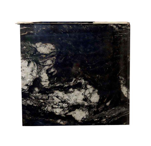 Interior Materials - Reclaimed Cosmic Black & White Granite Countertop Piece 45 x 42