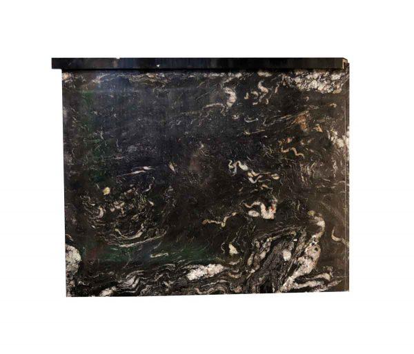 Interior Materials - Reclaimed Cosmic Black & White Granite Countertop Piece 51.75 x 42