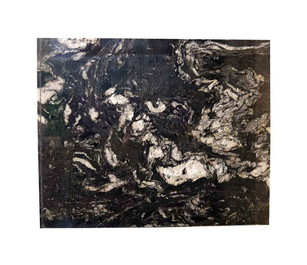 Interior Materials - Reclaimed Cosmic Black & White Mixed Granite Countertop Piece 52 x 42
