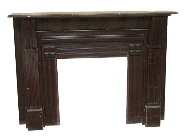Mantels - Salvaged Traditional Dark Wooden Mantel