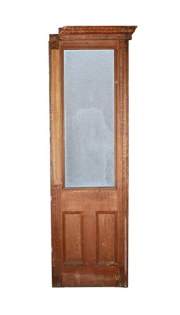 Paneled Rooms & Wainscoting - Antique Wall Panel with Snowflake Glass