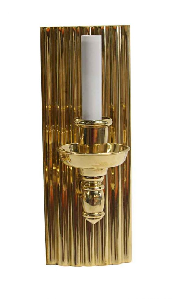 Sconces & Wall Lighting - Art Deco Style Cast Brass Single Arm Sconce