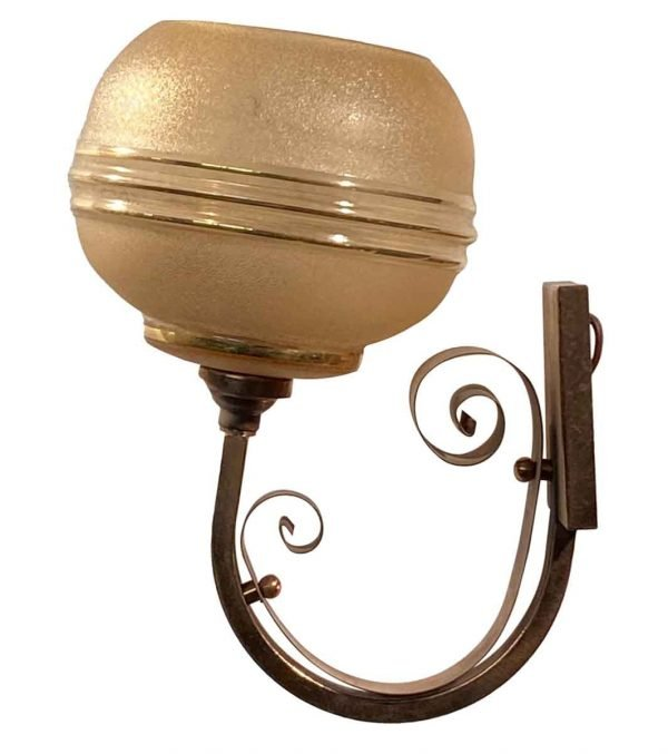 Sconces & Wall Lighting - French Art Deco Copper & Gold Wall Sconce