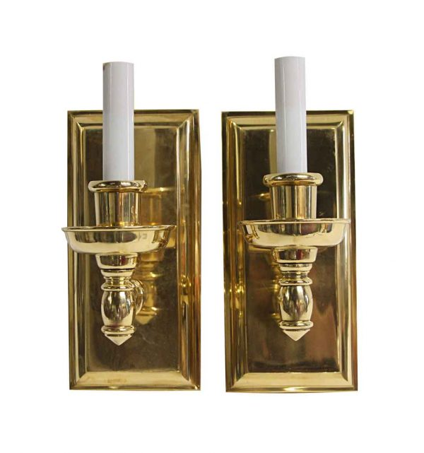 Sconces & Wall Lighting - Modern Heavy Cast Brass Single Arm Wall Sconces