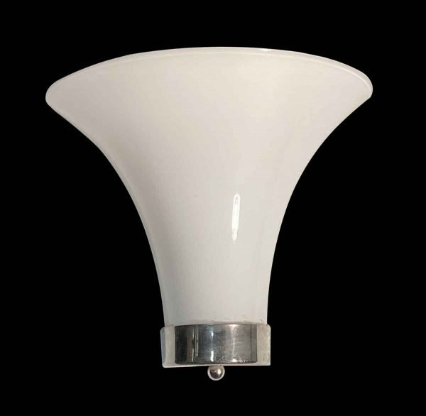 Sconces & Wall Lighting - Modern White Glass & Nickel Murano Wall Sconce