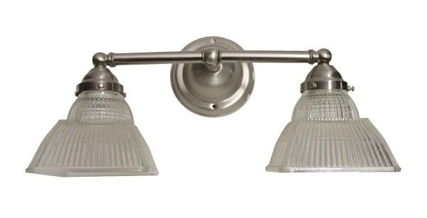 Sconces & Wall Lighting - Prism Glass Holophane Brushed Nickel Wall Sconce