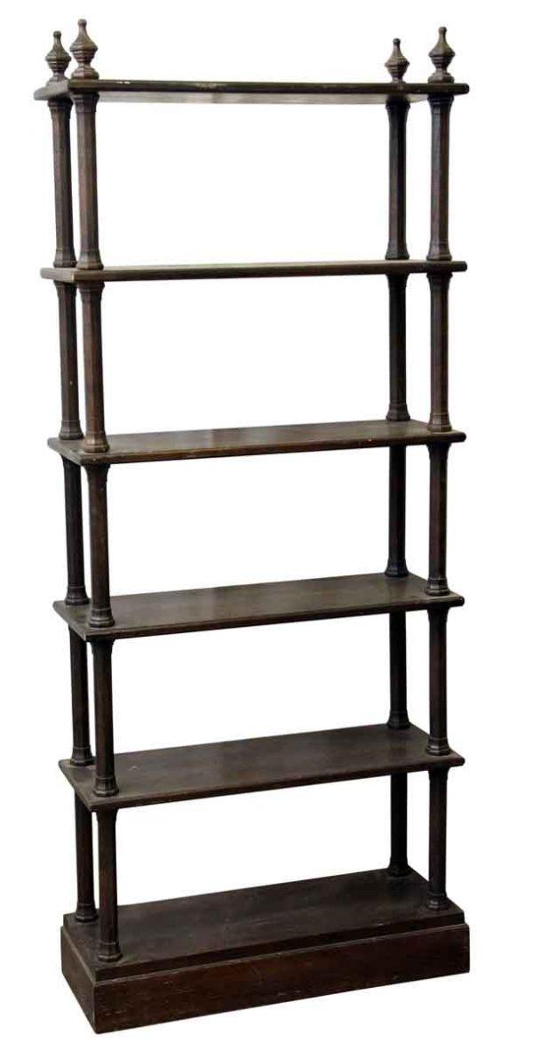 Shelves & Racks - Gothic Solid Oak Six Tier Bookcase Shelf