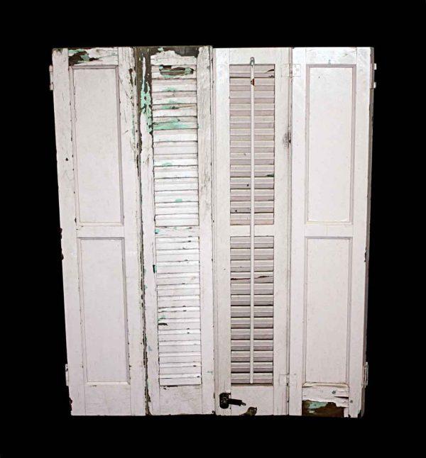 Shutters - Brownstone White Window Shutters