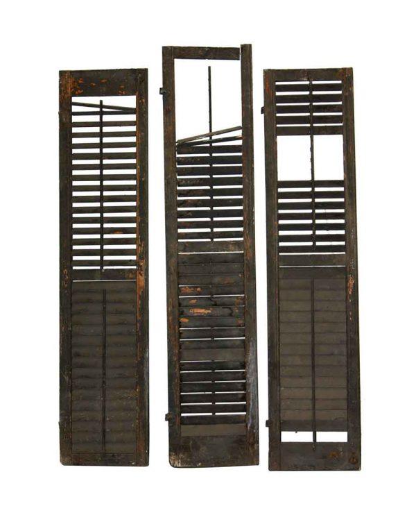 Shutters - Set of Three Louver Closet Doors