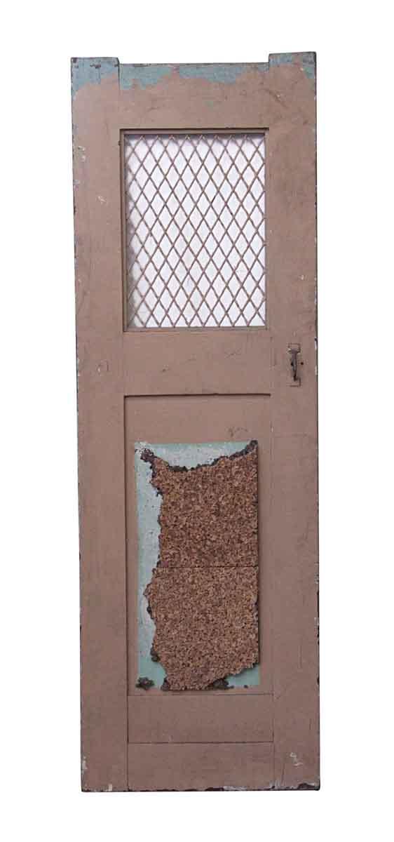 Specialty Doors - Antique Metal Pane Wood Passage Door 70 x 23