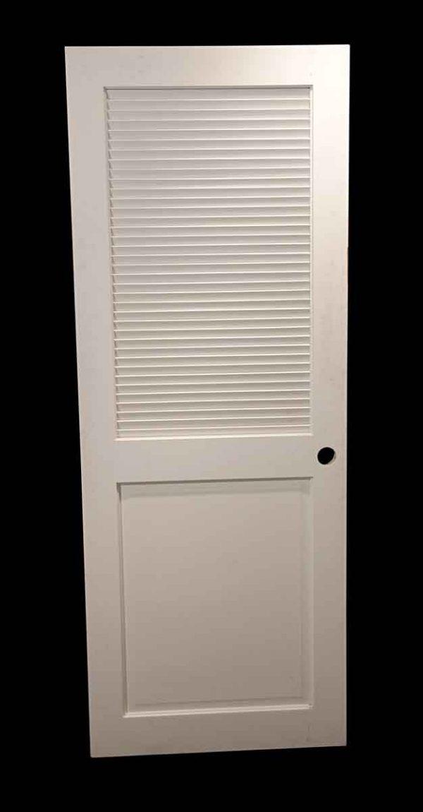 Specialty Doors - Vintage 1 Pane Louver Closet Door 78.25 x 29.875
