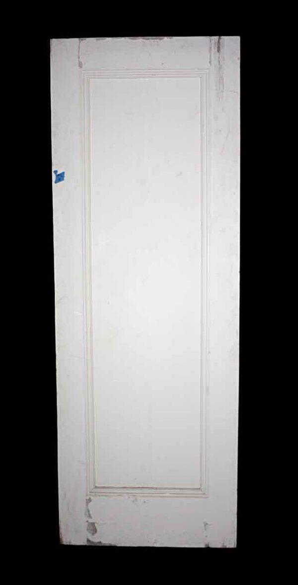 Standard Doors - Antique 1 Panel White Wood Passage Door 83 x 30