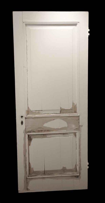 Standard Doors - Antique 2 Pane White Wood Passage Door 79.5 x 31.75