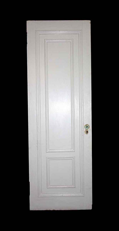 Standard Doors - Antique 2 Pane White Wood Passage Door 83 x 28