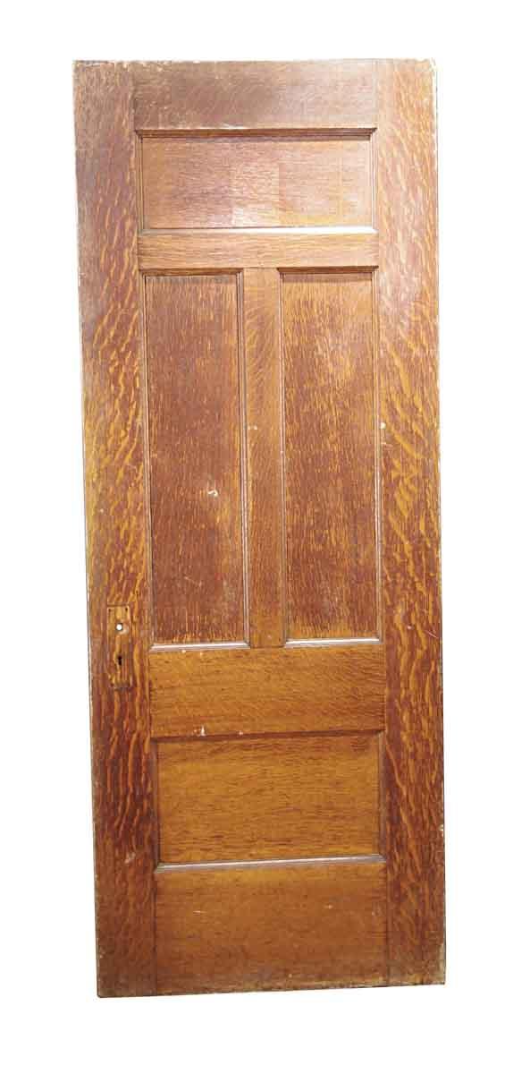Standard Doors - Antique 4 Pane Quarter Sawn Oak Passage Door 83 x 31.75