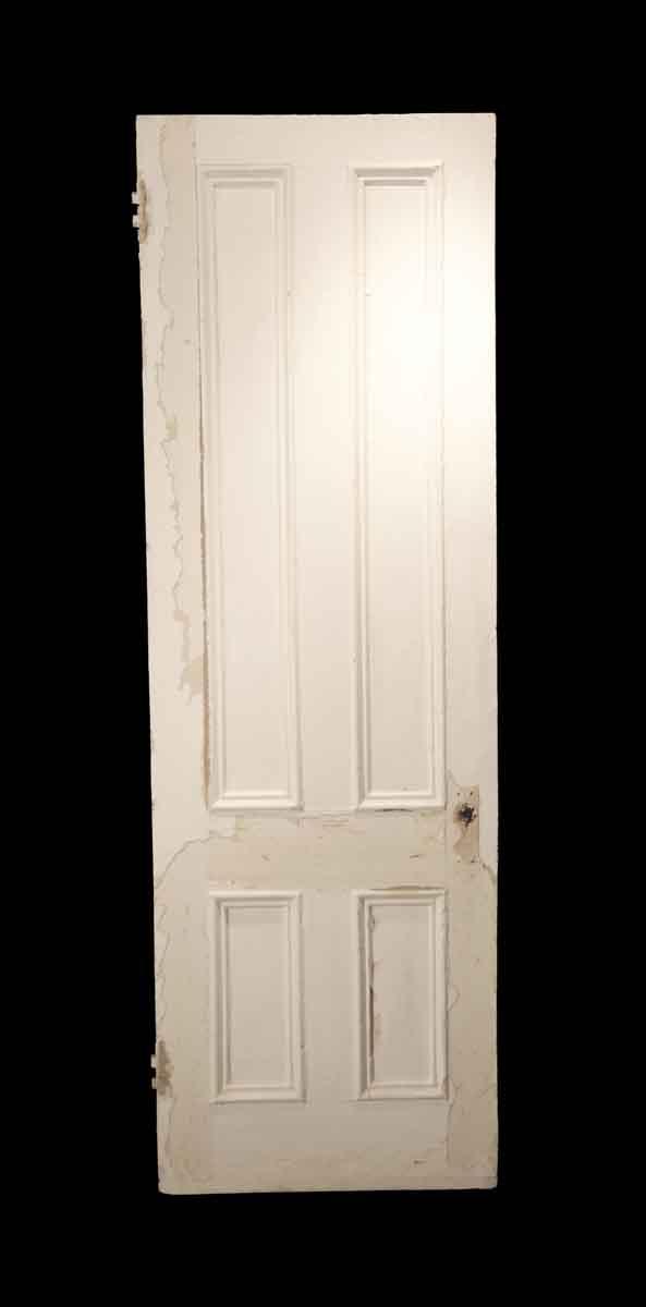 Standard Doors - Antique 4 Pane White Wood Passage Door 89.75 x 28.875