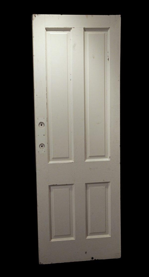 Standard Doors - Antique 4 Pane Wood White Privacy Hidden Door 83 in.