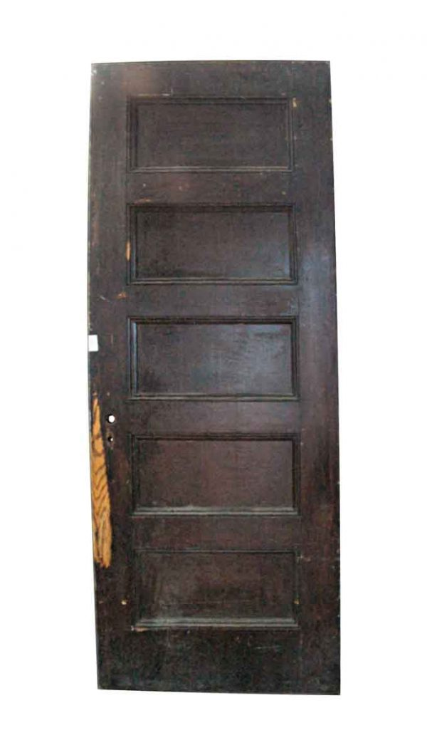 Standard Doors - Antique 5 Pane Oak Passage Door 83.75 x 29.75