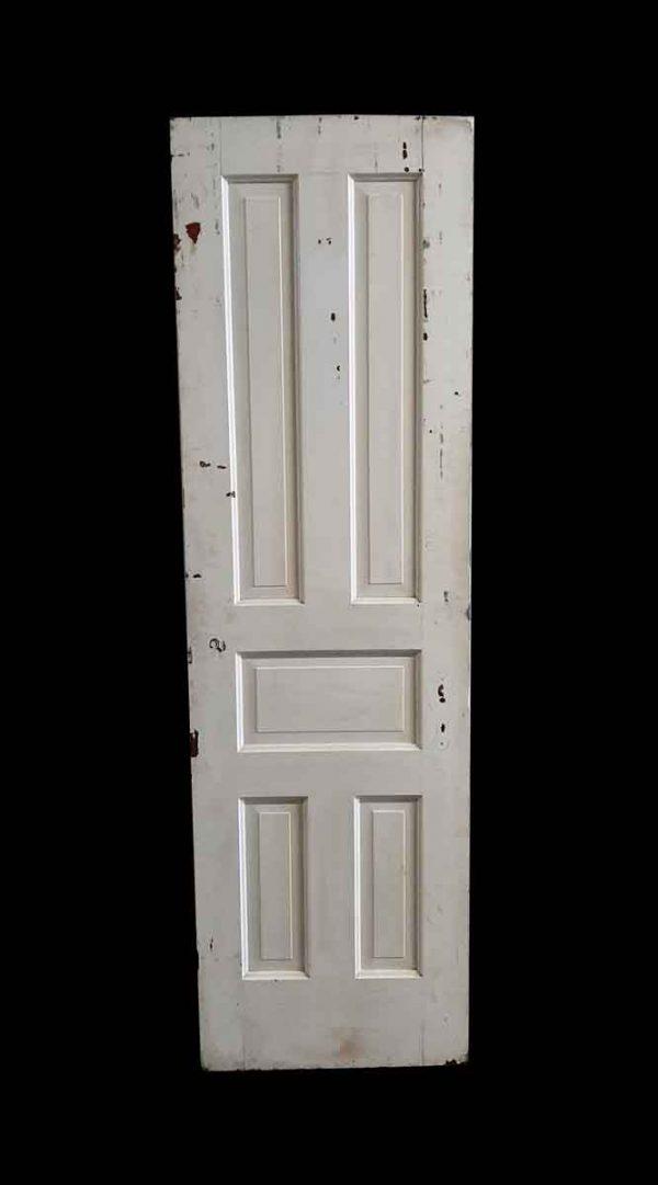 Standard Doors - Antique 5 Pane White Wood Passage Door 79.25 x 23.5