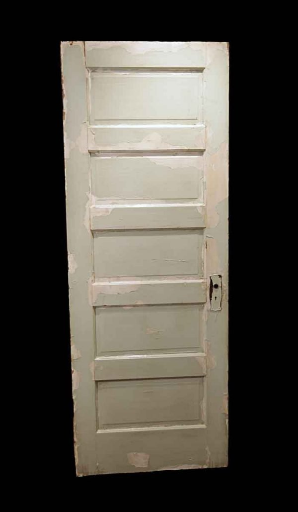 Standard Doors - Antique 5 Pane White Wood Passage Door 80 x 30.125