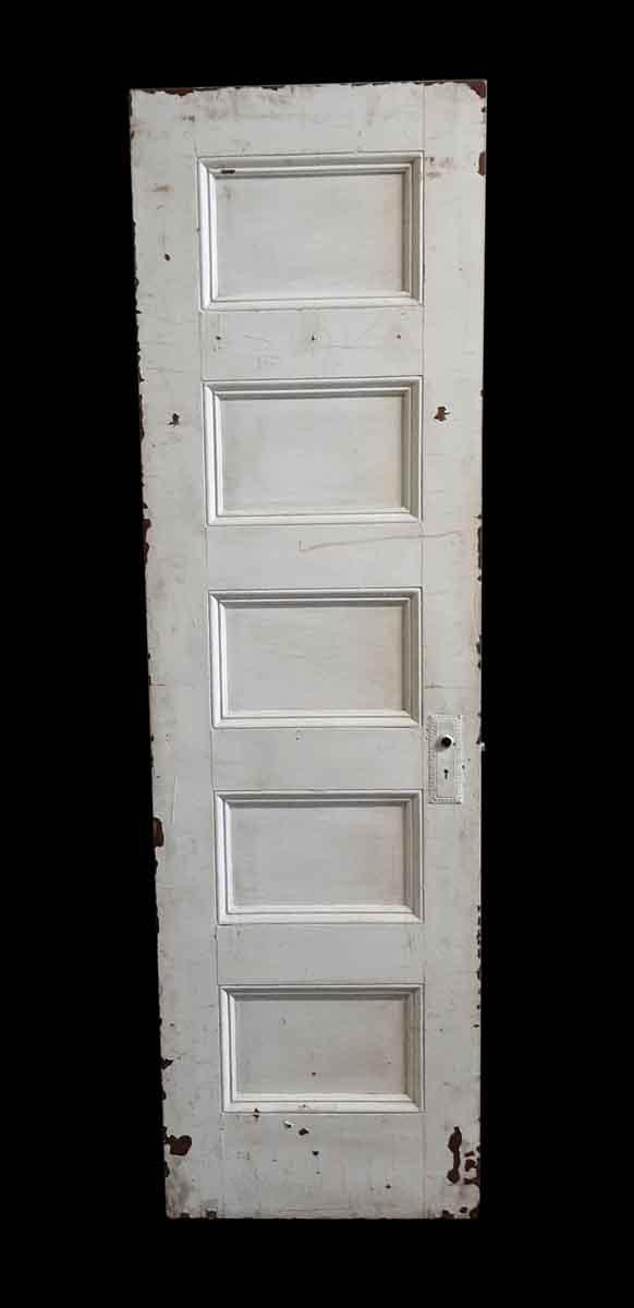Standard Doors - Antique 5 Pane White Wood Passage Door 81.5 x 23.75