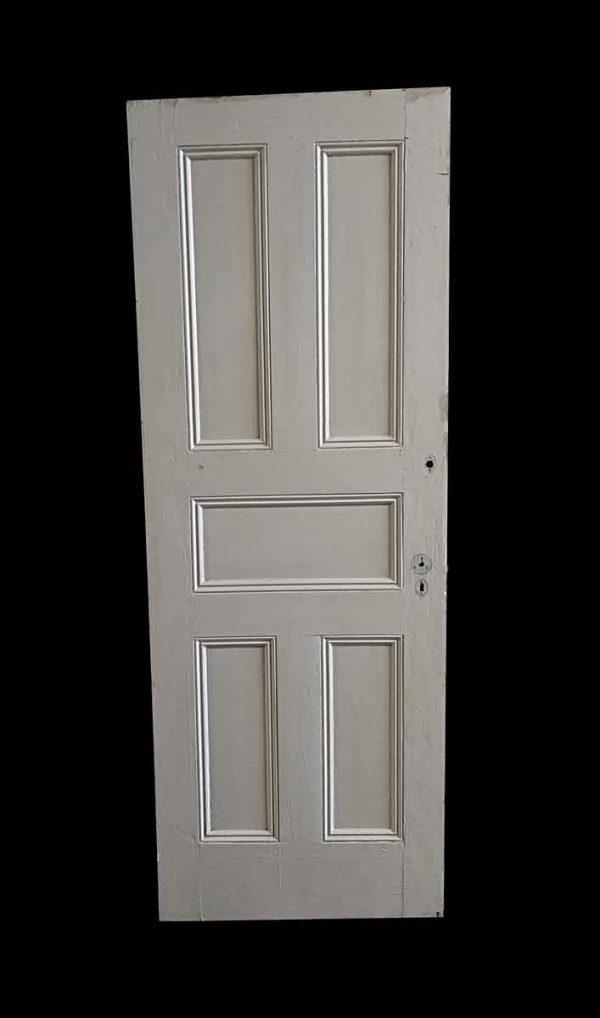 Standard Doors - Antique 5 Pane White Wood Privacy Door 82.5 x 30
