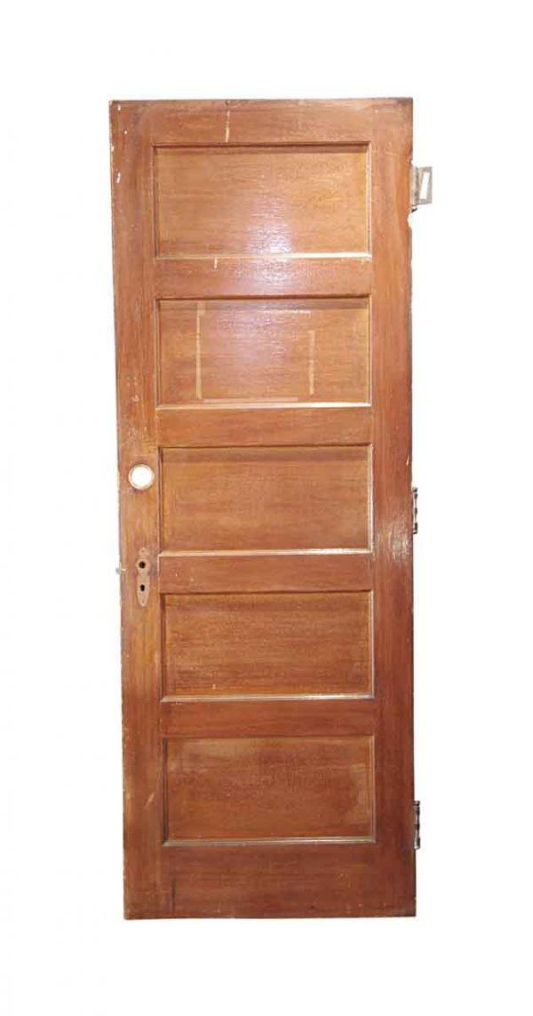 Standard Doors - Antique 5 Pane Wood Privacy Door 82.875 x 29.875