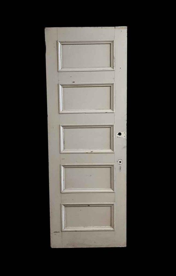 Standard Doors - Antique 5 Pane Wood Privacy Door 89.25 x 31.75