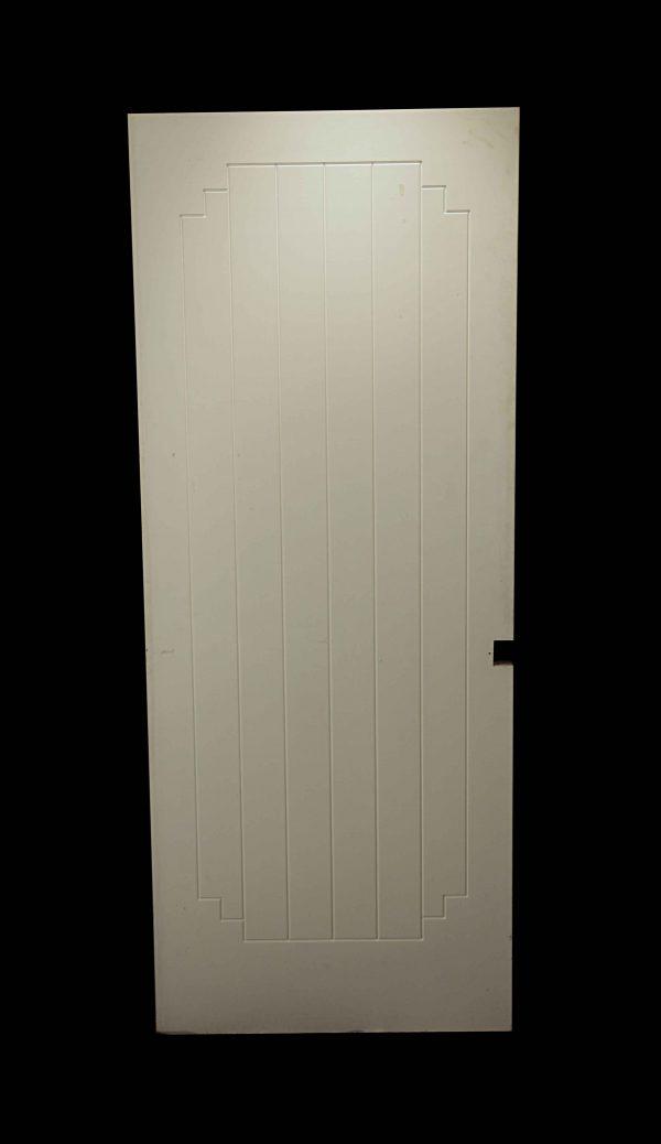 Standard Doors - Antique Art Deco White Wood Passage Door 80.125 x 32.125