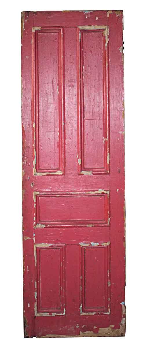 Standard Doors - Antique Red Painted Wood 5 Pane Passage Door 81 x 27.75
