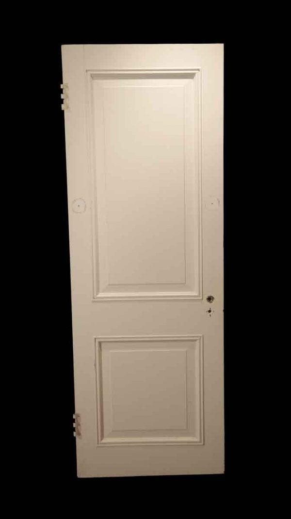 Standard Doors - Vintage 2 Pane White Wood Passage Door 78.625 x 27.875
