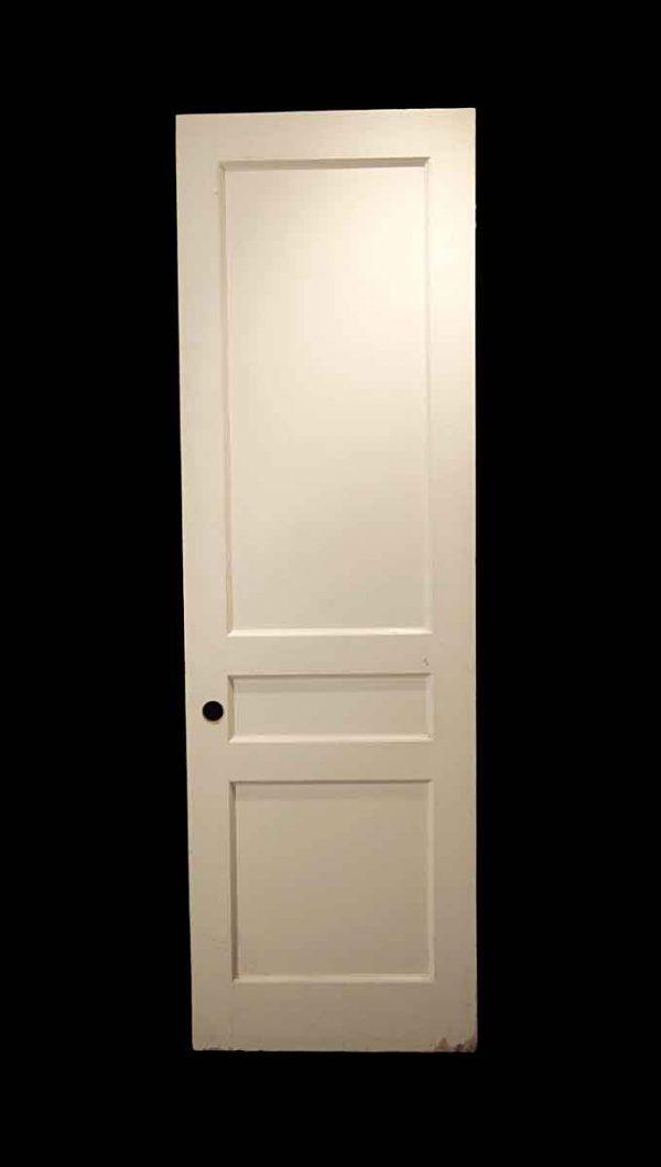 Standard Doors - Vintage 3 Pane White Wood Passage Door 82.875 x 25.875