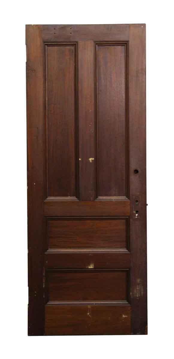 Standard Doors - Vintage 4 Pane Oak Privacy Door 82.75 x 32