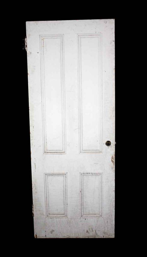 Standard Doors - Vintage 4 Pane White Wood Passage Door 78 x 30