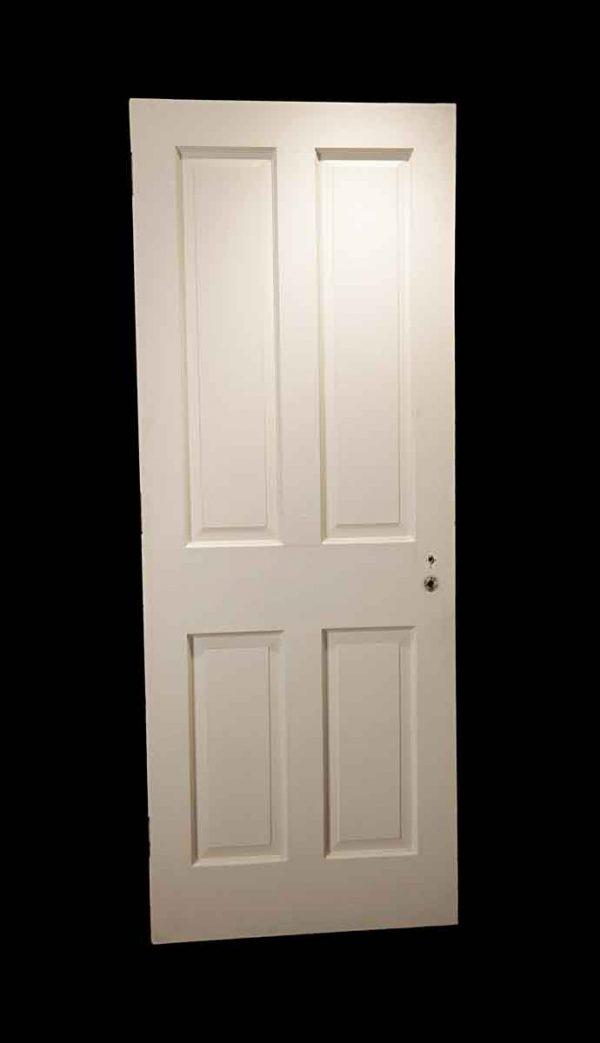 Standard Doors - Vintage 4 Pane White Wood Privacy Door 84 x 32