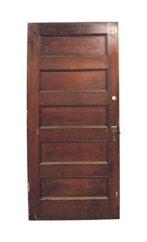 Standard Doors - Vintage 5 Pane Walnut Privacy Door 79.375 x 35.625