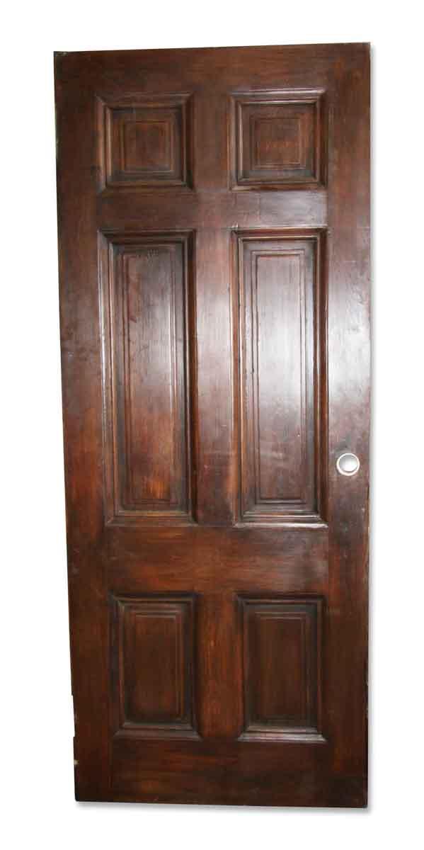 Standard Doors - Vintage 6 Pane Dark Wood Passage Door 88.25 x 35.25