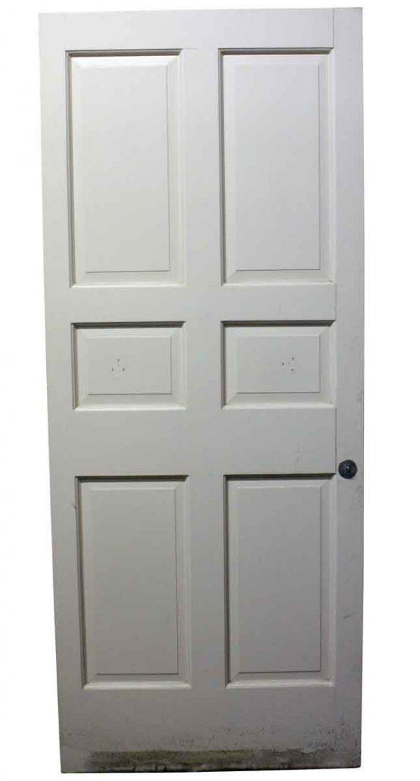 Standard Doors - Vintage 6 Pane White Wood Passage Door 82.5 x 33.5