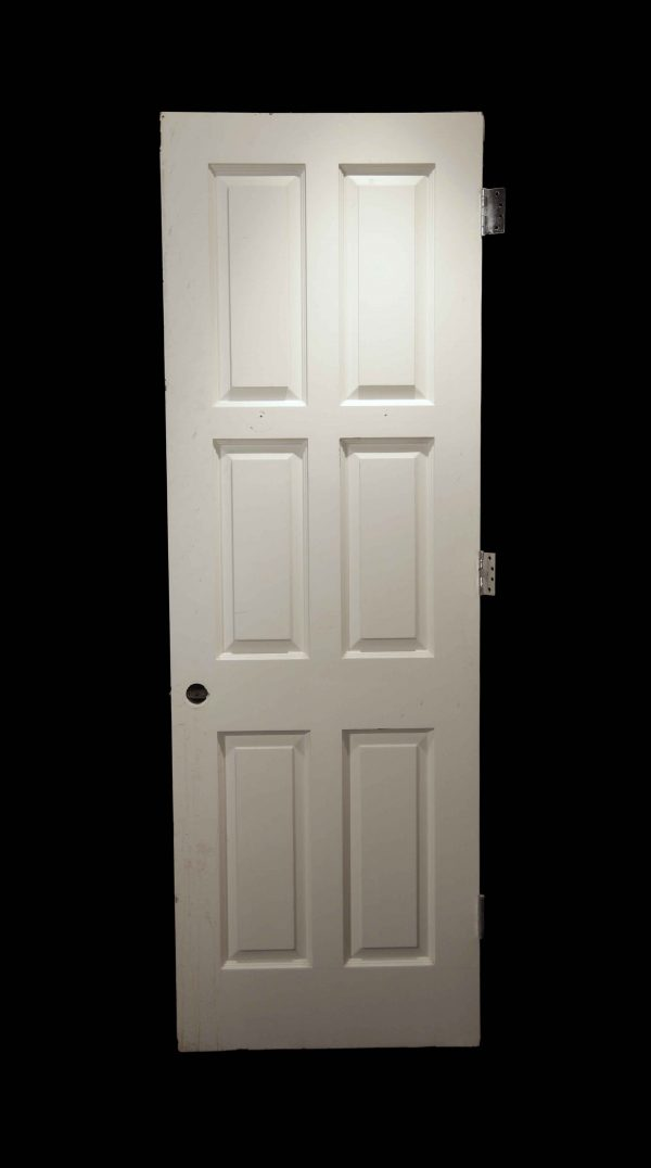 Standard Doors - Vintage 6 Pane White Wood Passage Door 89.125 x 29.75