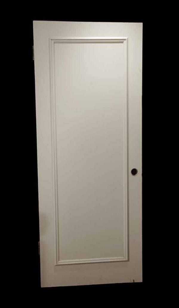 Standard Doors - Vintage Single Panel White Wood Passage Door 79 x 32