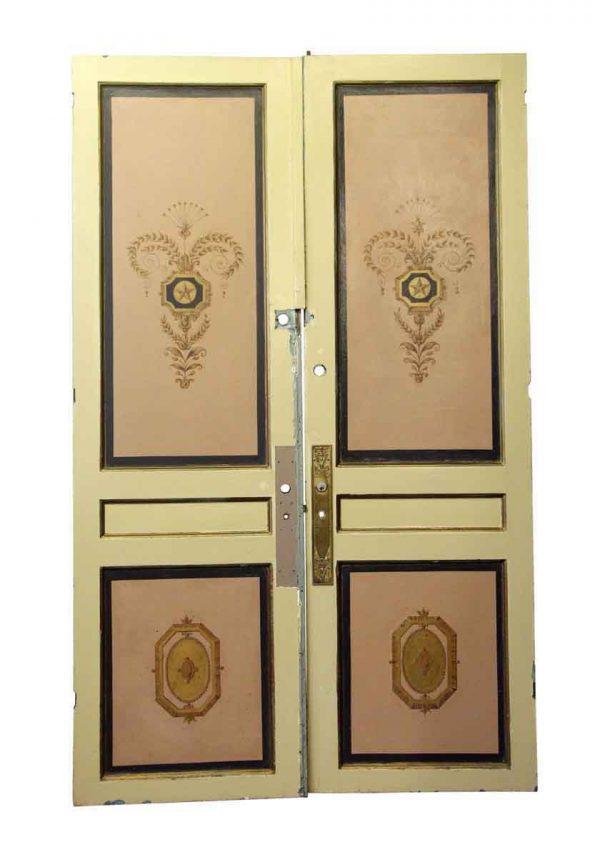 Standard Doors - Waldorf Astoria Hand Painted French Double Doors 96.25 x 58.5