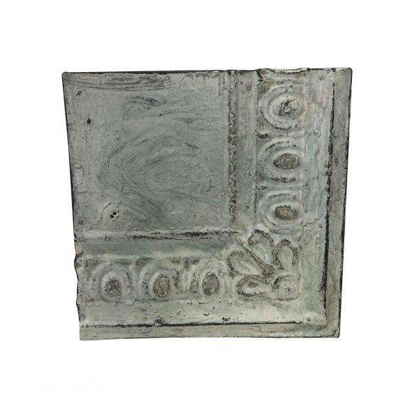 Tin Panels - Antique Gray Corner Flower Tin Panel