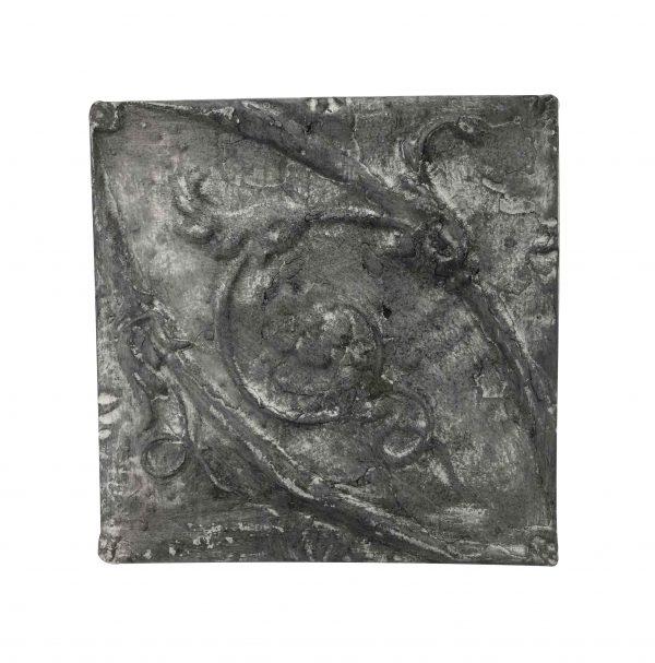 Tin Panels - Antique Washed Black Swirls Tin Panel