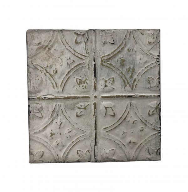 Tin Panels - Antique White Diamond Tulip Tin Panel