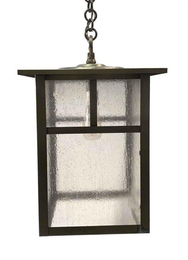 Wall & Ceiling Lanterns - Large Brass Arts & Crafts Hanging Lantern