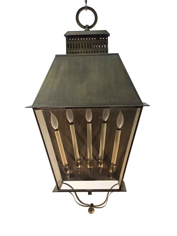 Wall & Ceiling Lanterns - Oversized 5 Arm Brass Wall Lantern Sconce